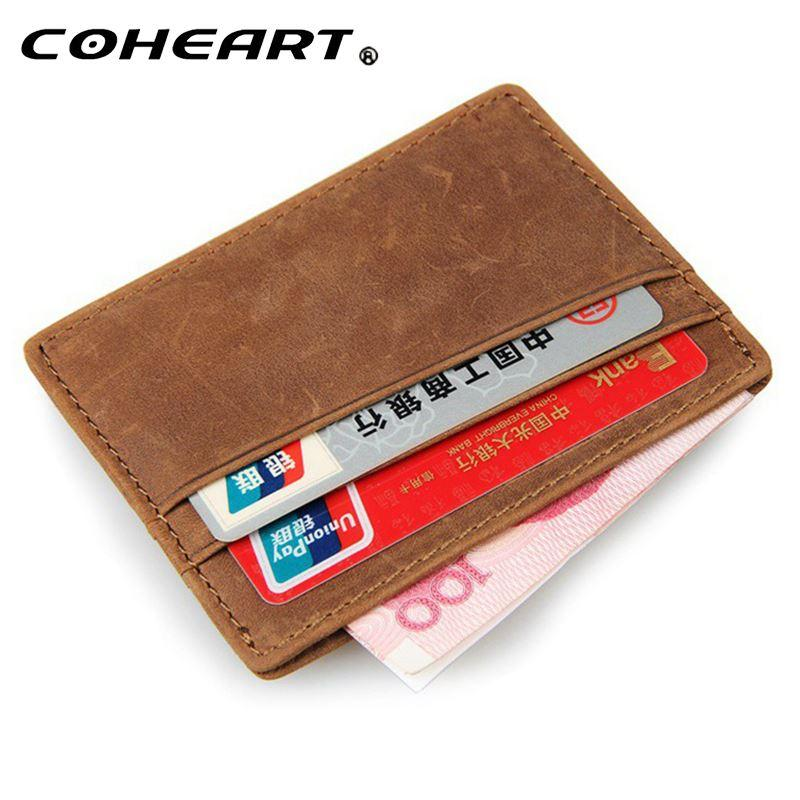 ee2174171642 Wallet Men One Piece Genuine Leather Wallet Male Purse Ultra Thin ...