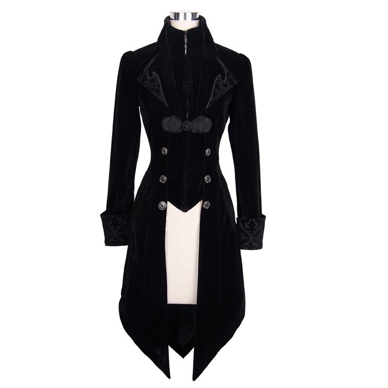 Steampunk chaqueta de primavera para mujer otoño gótico abrigo femenino manga larga rompevientos mujer patrones británicos chaquetas para mujer