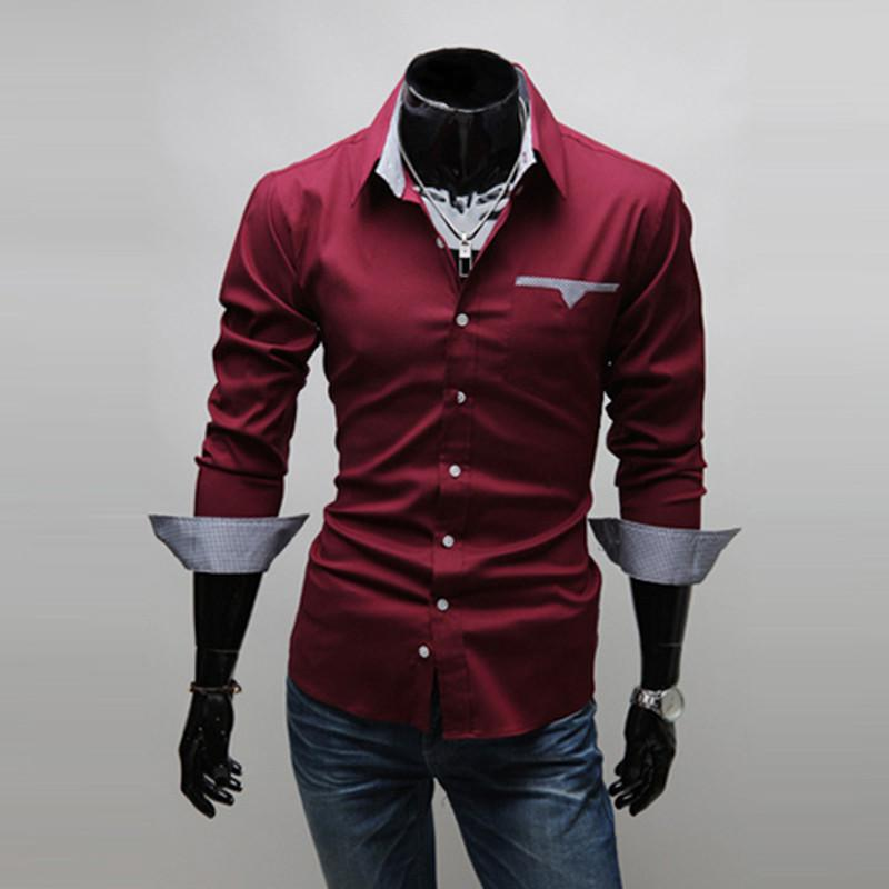 Burgundy Mens Dress Shirt