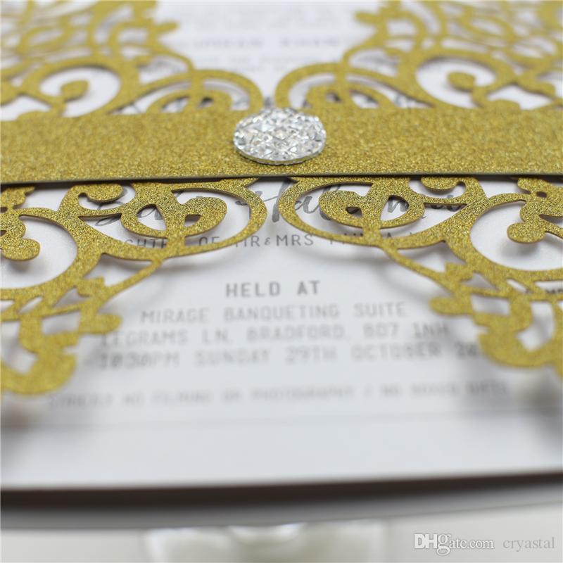 Vente élégante dentelle fleur Laser Cut Free impression carte d'invitation de mariage toutes les couleurs fournitures de mariage livraison gratuite