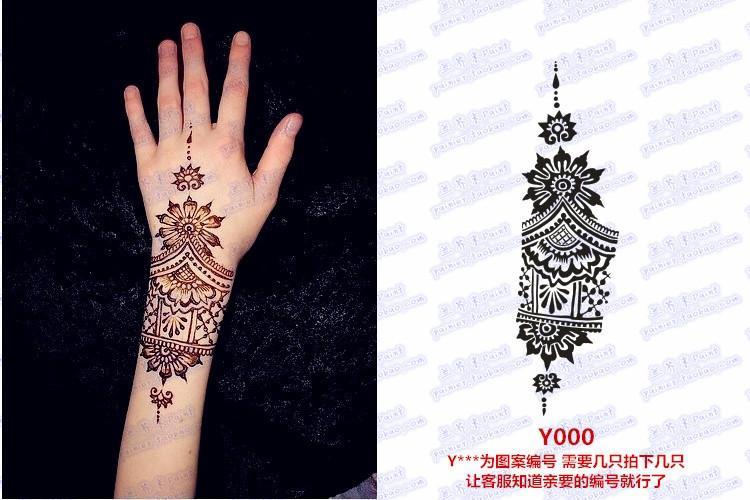 Henna Tattoo Thailand : New natural henna tattoo art paste temporary brown g