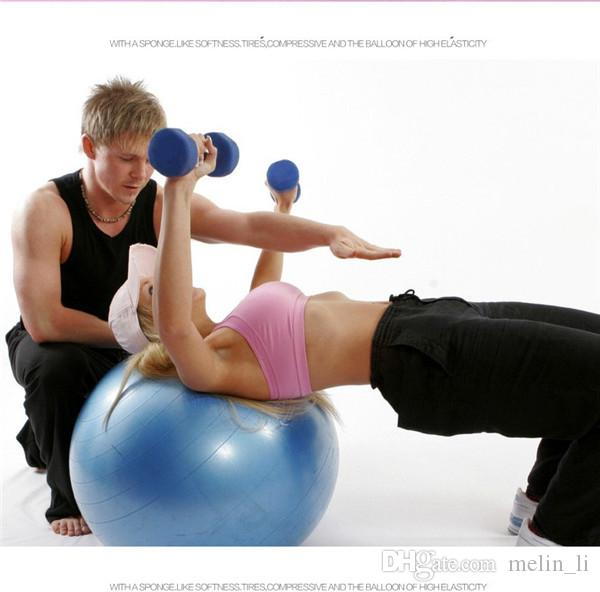 75Cm PVC Fitness With Barbed Massage Balance Yoga Ball Chair Exercises Point Massage Stepping Stones Bosu Balance Pods
