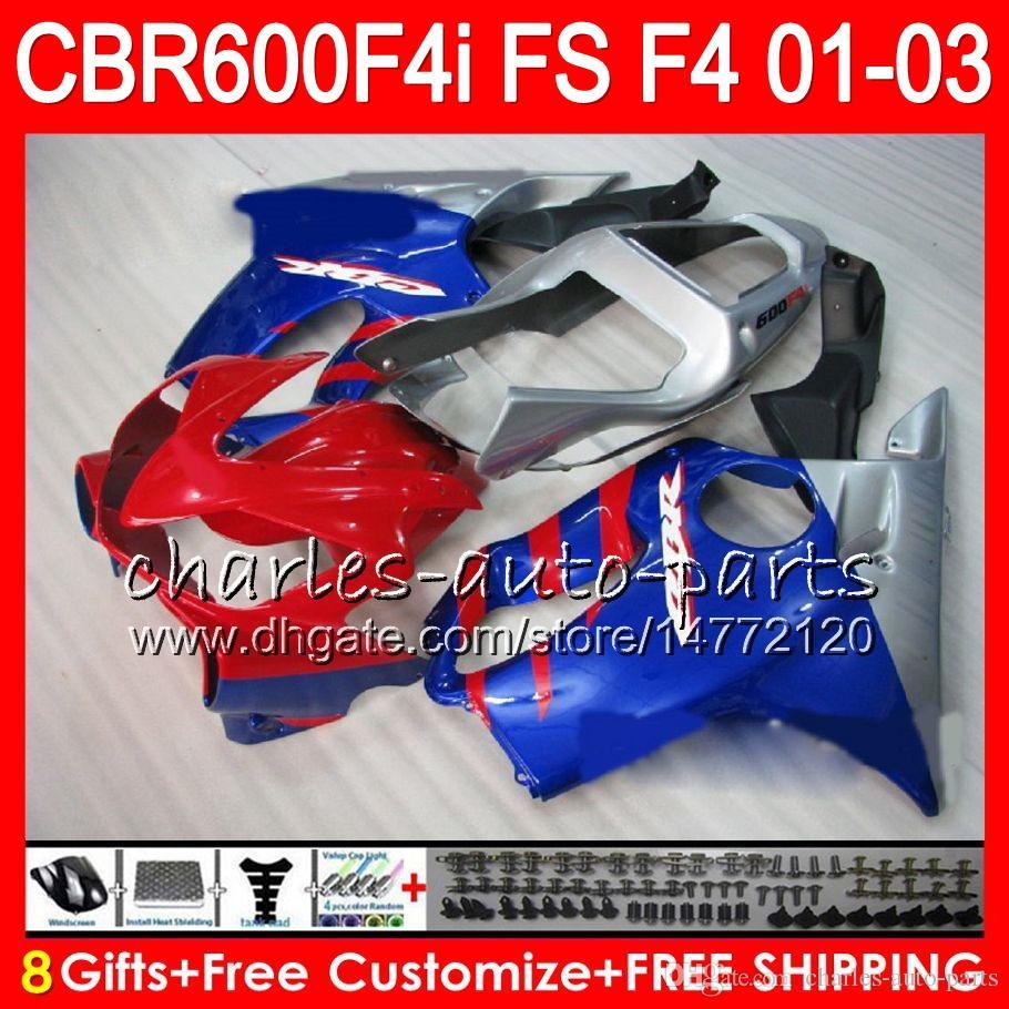 8Gifts HONDA CBR 600 F4i 01-03 CBR600FS FS 28NO36 CBR600 F4i 2001 2002 2003 CBR 600F4i CBR600F4i 01 02 03 Carenatura