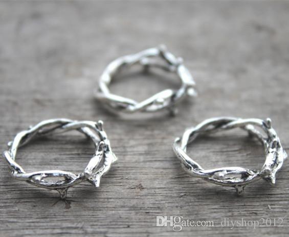 2018 crown of thorns charmsthorn ringantique silver twig ring 2018 crown of thorns charmsthorn ringantique silver twig ring branch ring pendantscharms gift accessory 23 mm from diyshop2012 334 dhgate aloadofball Images