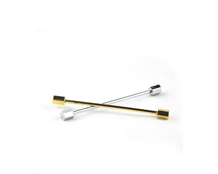 Hombres Clásico Broche Pins silve y oro Collar Traje Stick Breastpin Solapel Pin Mens Corbata Tie Clip