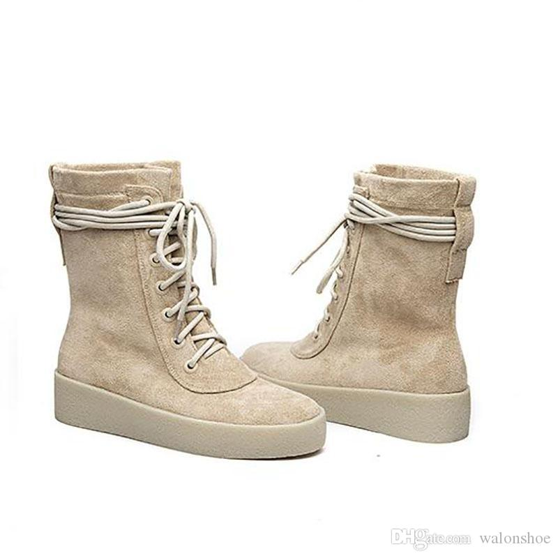 Women's Trendy Round Toe Lace Up Winter Martin Booties