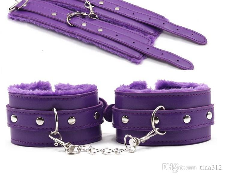 Bondages Bondage Kit Set Fetish BDSM Roleplay Handcuffs Whip Rope Blindfold Ball Gag Black/Red/Pink/Purple Slave Bondage Kit F0021
