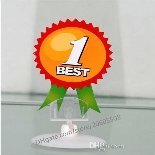 100 adet Toptan 4 CM Disk tabanı POP Plastik Burcu kelepçe Kart Ekran Fiyat Etiketi pop Promosyon Klipler Tutucu Perakende Mağazası için ücretsiz kargo