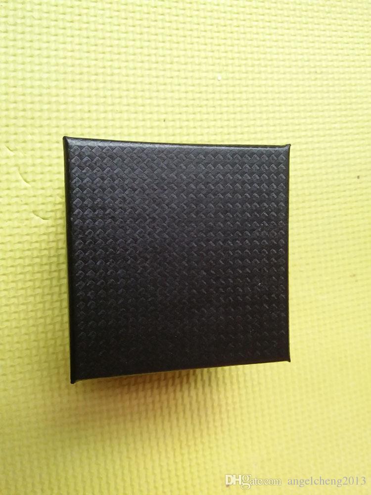 20ピース8×8×6cmの正方形の硬いペーパーの単一のブレスレットバングルジュエリーウォッチギフトボックスウォッチディスプレイパッキング(ブラック)