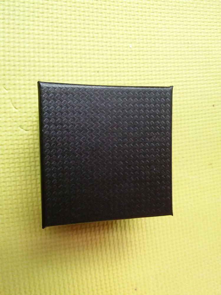8x8x6cm Quadrado de papel duro Único Pulseira Pulseira Jóias Assista Gift Box Display Display Embalagem Black