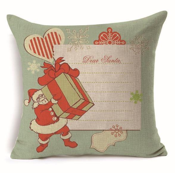 Christmas Pillow Case Printed Linen Home Decor Gift Decoration Throw Sofa Ornament Cushion Cover Pillowcase Tree Decorative Eve Cartoon