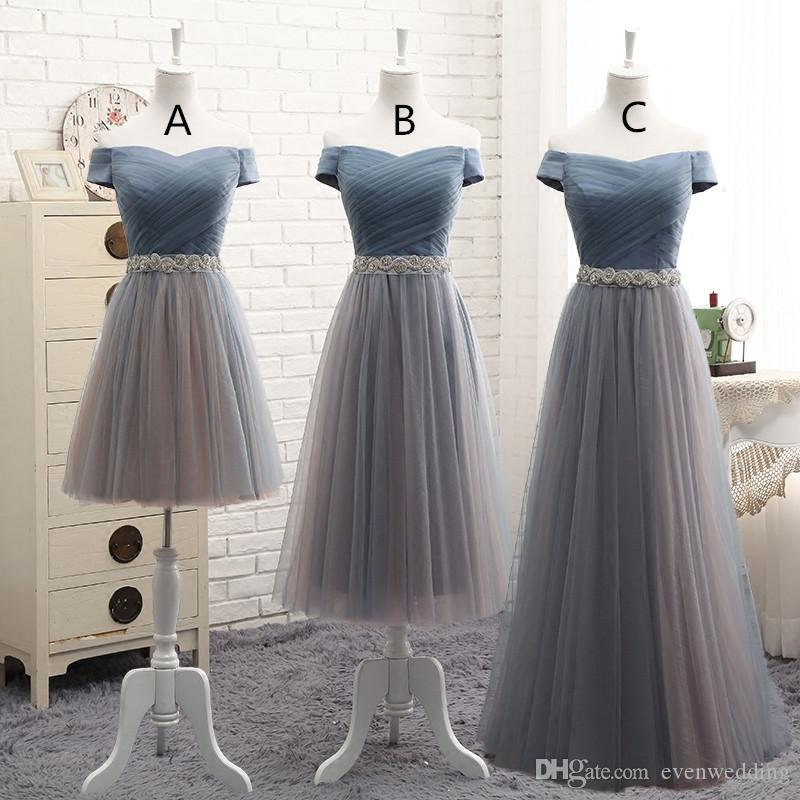 Off Shoulder Tulle Bridesmaid Dress Lace Up 2018 New Wedding Party Dress  Elegant Formal Dress Real Photo Brides Maid Dresses Burgundy Bridesmaid  Dresses ... acbbaa651c4e