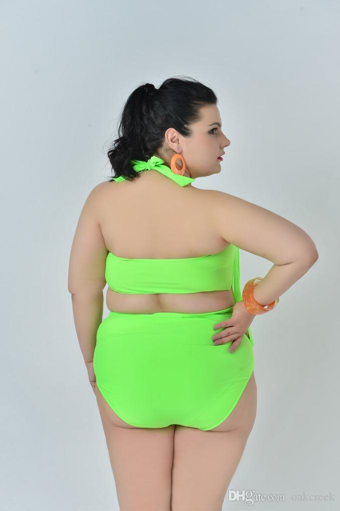 Bikini de talle alto y tamaño sexy con sujetador sin sujetador sujetador de acero traje de baño de mujer de alta elasticidad es L-3XL traje de baño de mujer