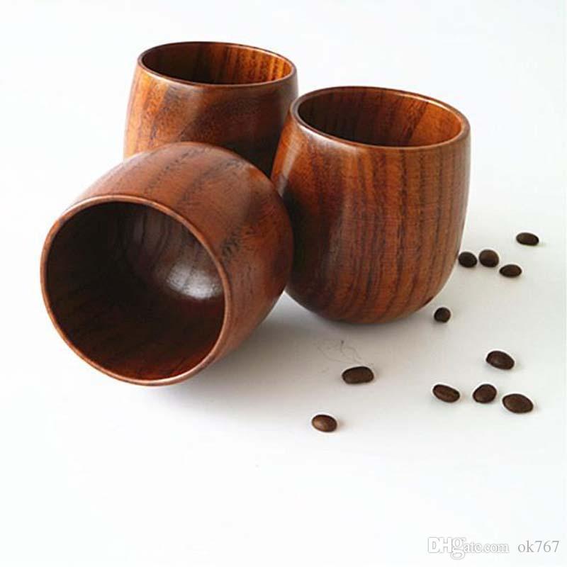 Holz Teetasse 5oz Natürliche Holz Weingläser 150ml Holz Kaffee Becher Bier Saft Milch Tassen