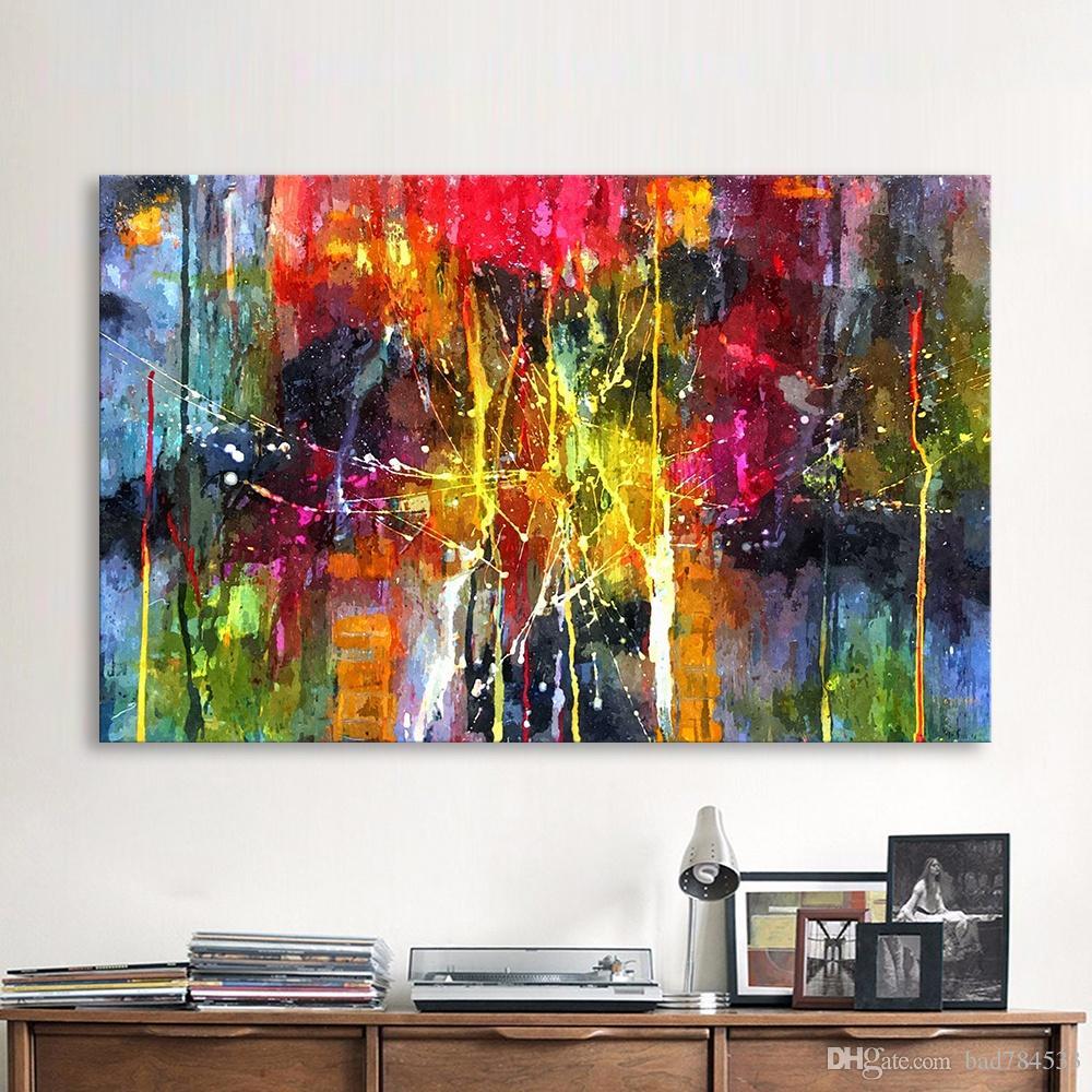 gro handel qkart abstrakte malerei bunte leinwand. Black Bedroom Furniture Sets. Home Design Ideas