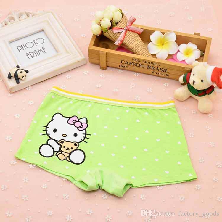 Baby Girls Bragas de dibujos animados Hello Kitty Briefs niños pantalones cortos de algodón calzoncillos boxeadores para niños Underwears barato 303