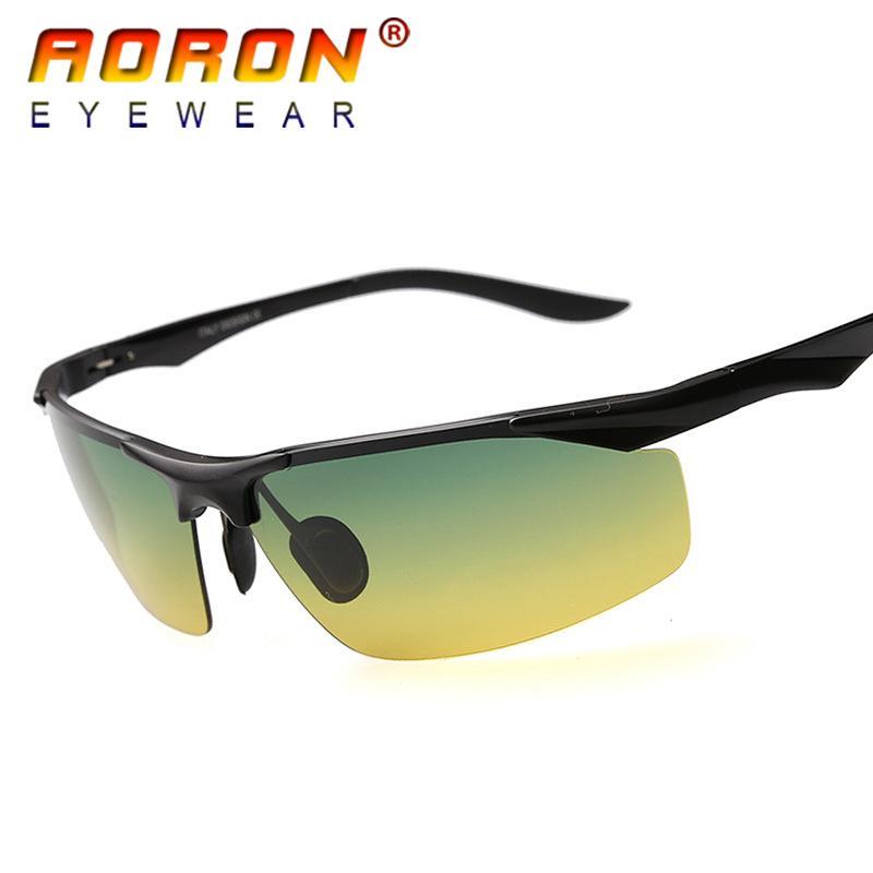 AORON Men Aluminum Polarized Sunglasses Outdoor Riding Driving Eyewear New