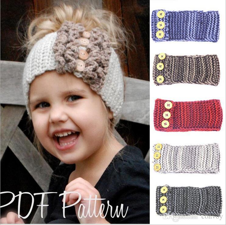 Fashion Baby Headbands Woolen Yarn Crochet Headband Earflap Kids