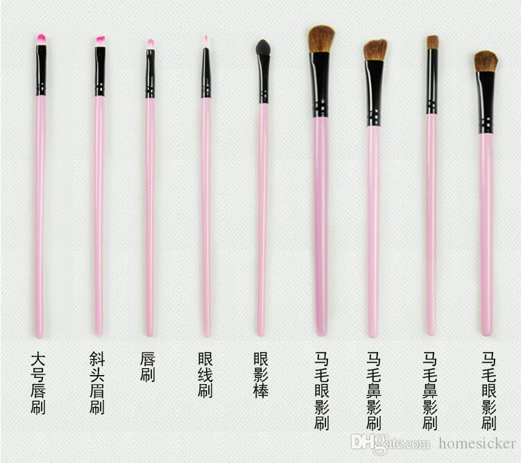 Haute qualité nouvelle marque professionnelle marque cosmétique cosmétiques pinceau kit pinceau laine brosse livraison gratuite