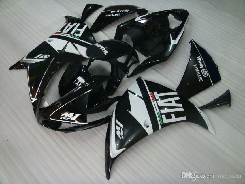Injection mold bodywork fairing kit for Yamaha YZF R1 09 10 11-14 black white fairings set YZF R1 2009-2014 OY10