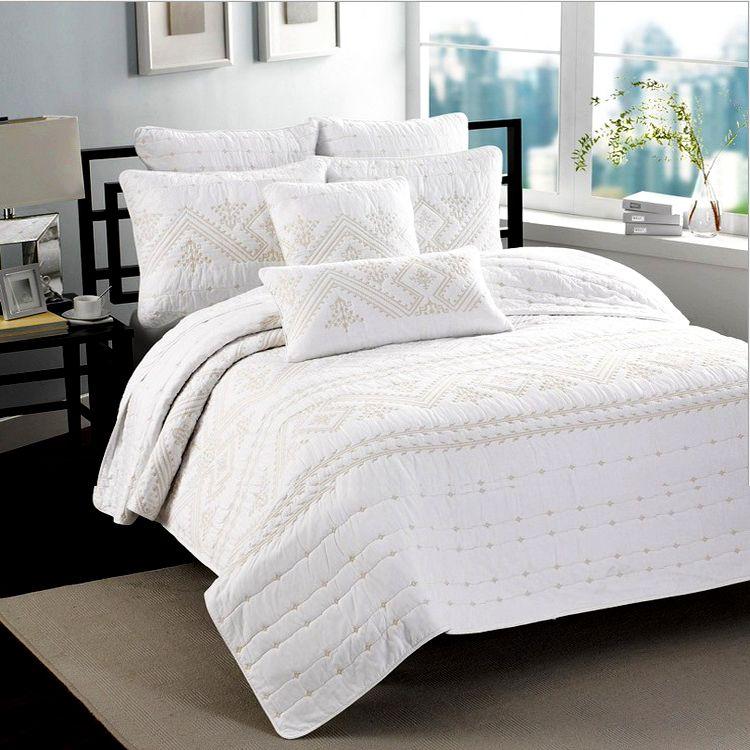 American Morden Pastorale Baumwolle Quilten Quilts Wasser gewaschen Bettdecke Bettdecke KING SIZE Bettdecke Sets Patchwork weiß Quilt Kissenbezug