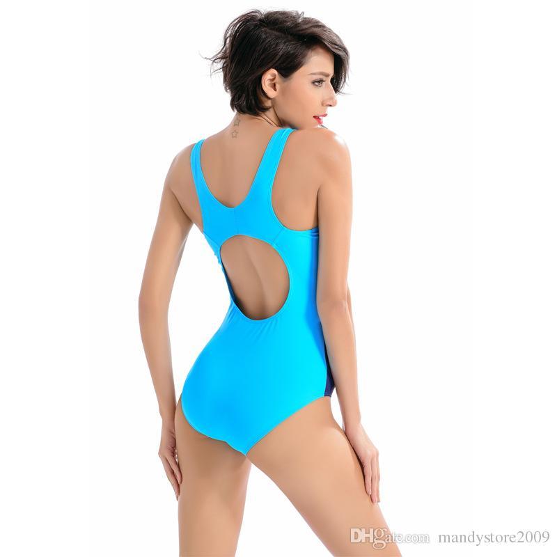 New!Women Professional Sport Triangular Piece Swimsuit One Piece Swimwear Bathing Suit Brazilian Bathing Suit S to XL Size