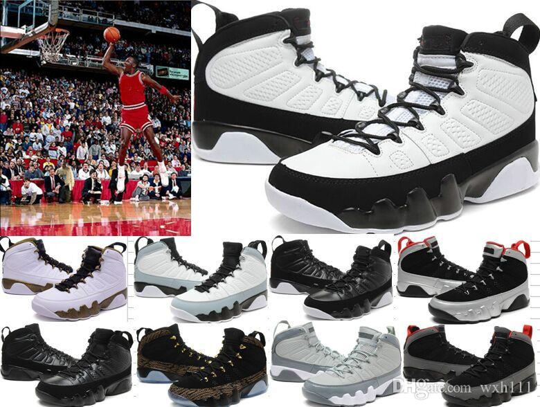 0fbc5dc80202b9 New 9 9s Men Basketball Shoes LA Bred OG Space Jam Tour Yellow PE Anthracite  The Spirit Johnny Kilroy Sports Trainers Sneakers 36 47 Basketball Shoes Men  ...