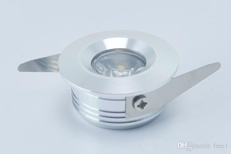 o poder superior conduziu o downlight 3w conduzido mini downlight recessed as luzes de teto 300lm AC110-240V Warm / Cold White + os controladores 30 / 60angle CE