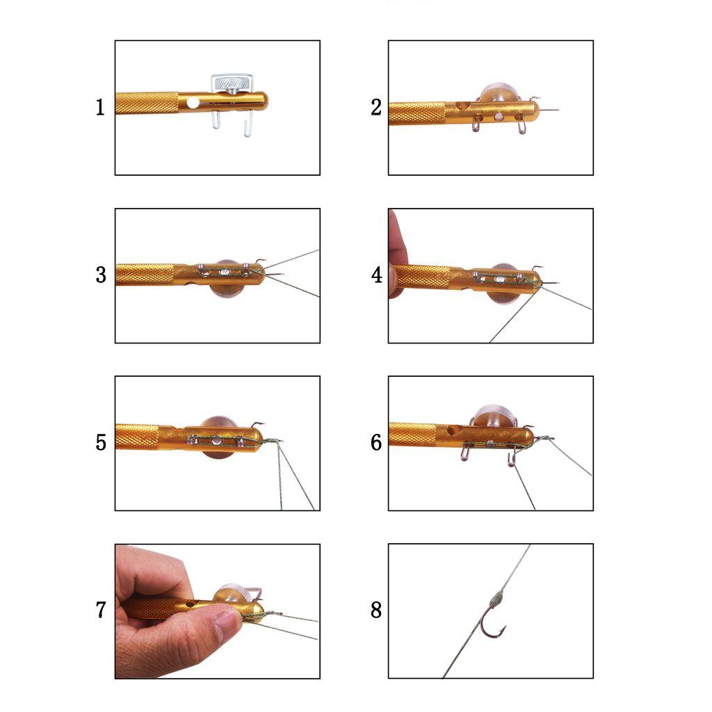 Леска уровня руководство по эксплуатации узел связывая инструмент суб-линии узел связывая инструмент крючок рыбы