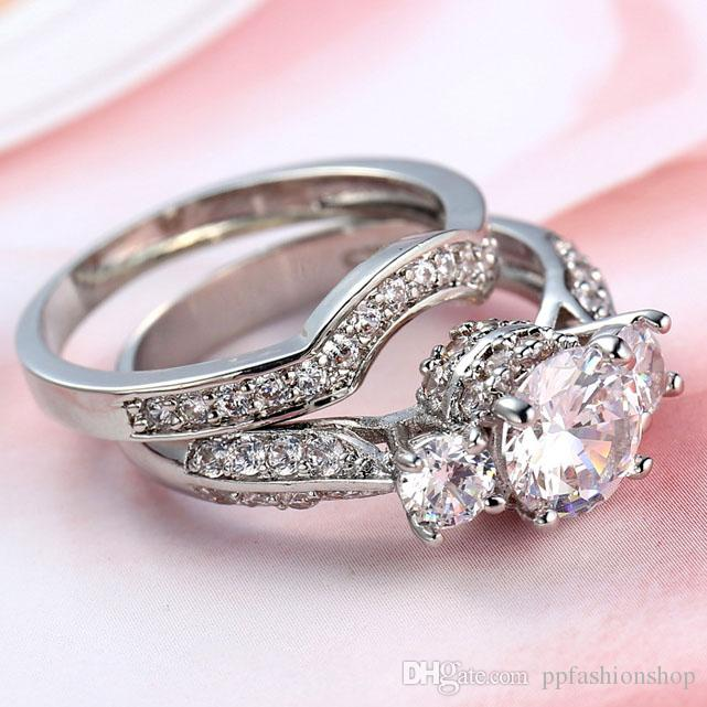 2017 Europe and the United States fashion ladies zirconium ring, creative sets of jewelry, fashion high-quality ring jewelry wholesale