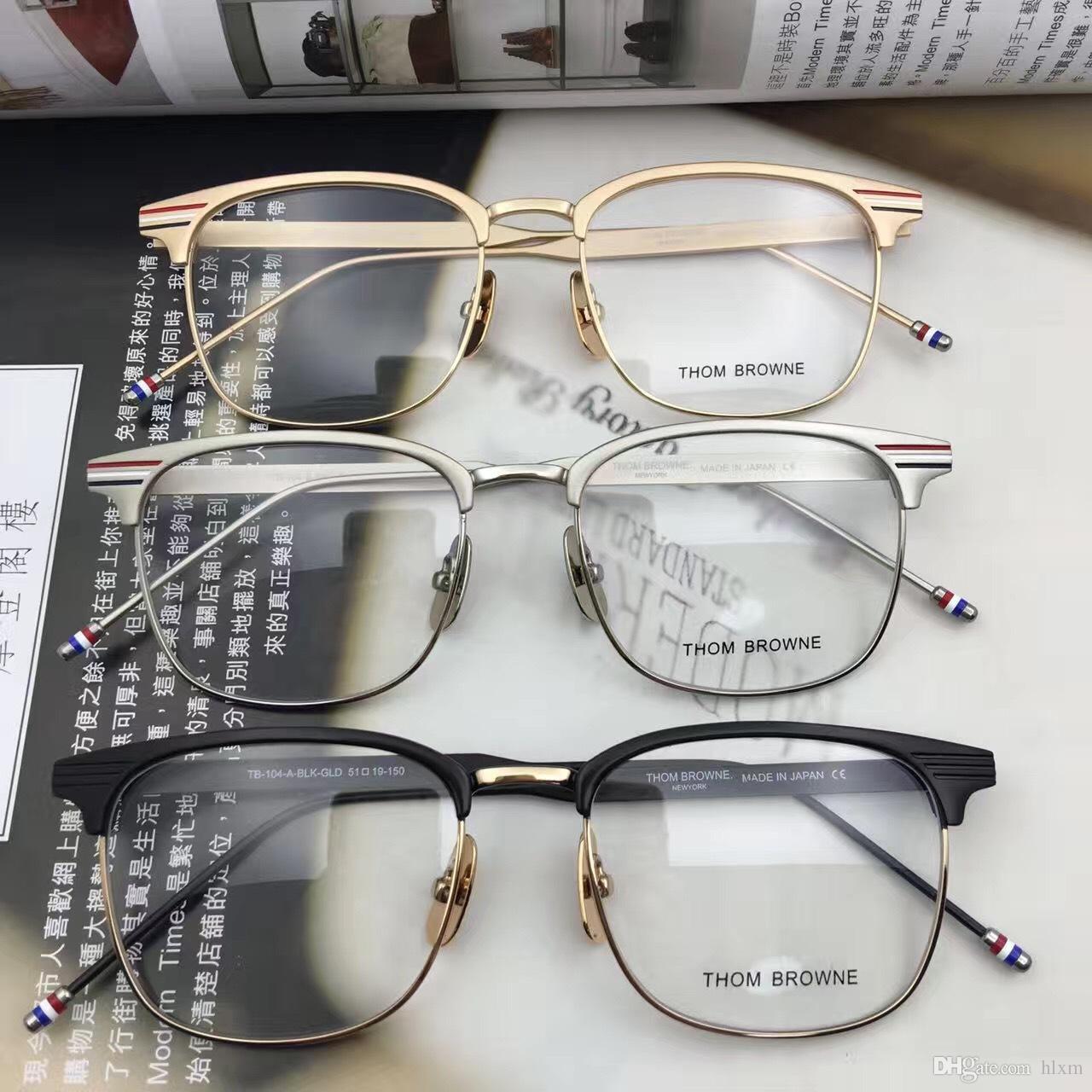 9c01c57228f1 2019 2017 Thom Brand Metal Titanium Eyewear TB104 Eyeglasses Frames Myopia  Reading Optical Frame Speatacle Glasses Frame For Men From Hlxm