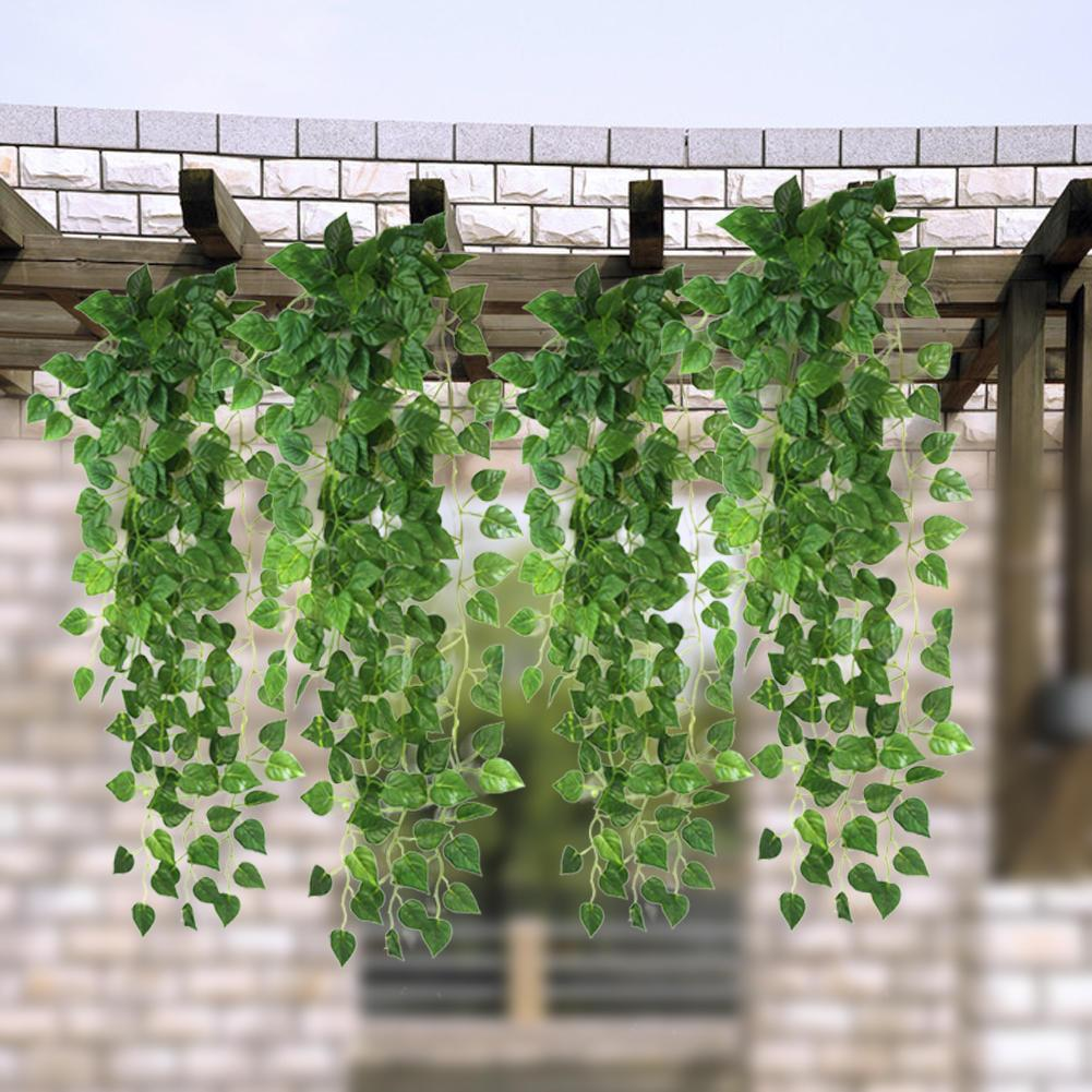 Wholesale- Green Artificial Fake Hanging Vine Plant Leaves Garland ...