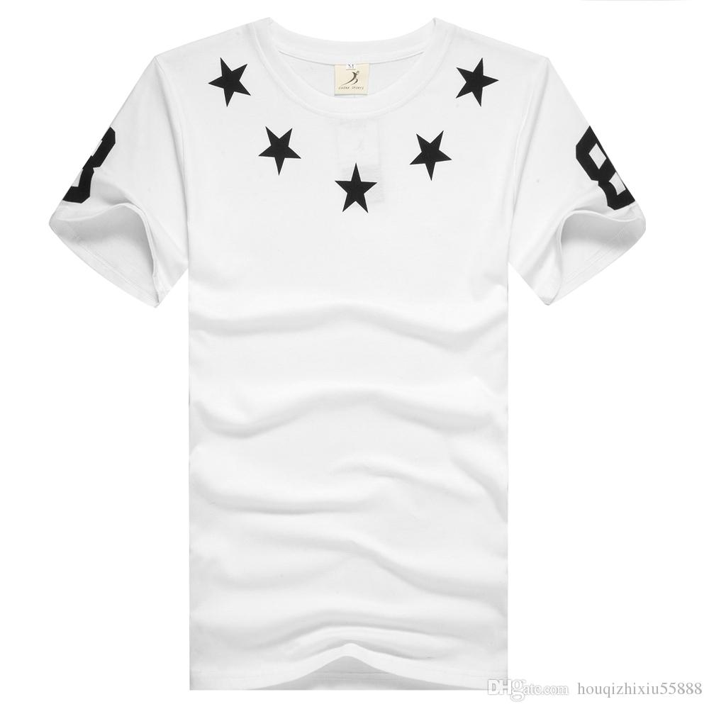Design t shirt europe - Brand Casual Skateboard Hba 88 Star Men T Shirts Europe Hip Hop Swag T Shirts Men Harajuku Rock Short Sleeves Tops Tees Ridiculous Shirts Awesome Tshirt