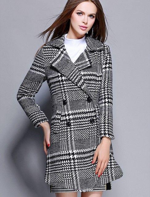 2017 ropa nueva. Vestido de mujer Cachemira. Abrigo de mujer Abrigo de lana de mujer Abrigo de mujer Mantener caliente Ropa de invierno. 100% poliéster.Plaid.