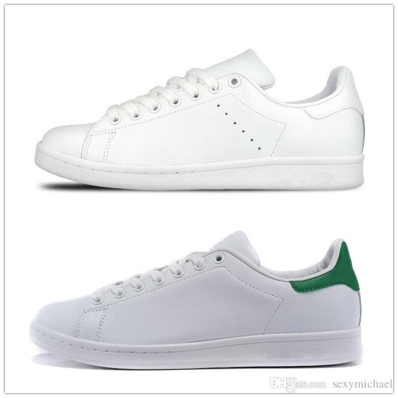 wholesale dealer 82995 76495 stan smith green back blue red casual shoes for men women fashion all black  leather white pink laser flat bottom luxury sneakers Shoes