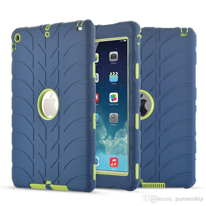 For iPad mini 1 2 3 4 5 6 Air Air2 iPad Pro Retina Kids Baby Safe Armor Shockproof Heavy Duty Silicone Hard Case Cover