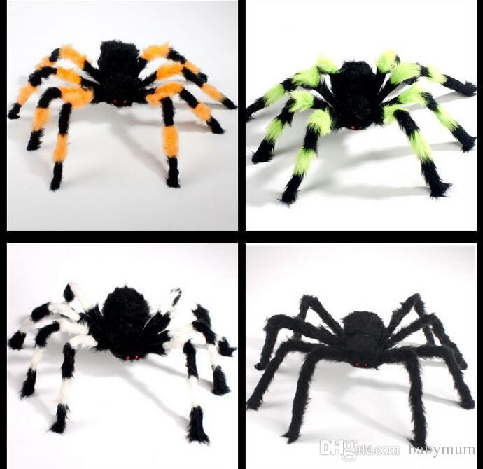 Halloween Props spider kids festival Funny Toy for party Bar KTV halloween decoration plush spider novely baby gift