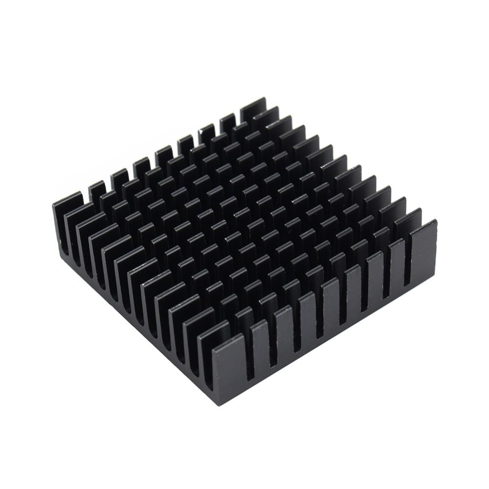40mm*40mm*11mm DIY Cooler Aluminum Heatsink Cooling Fin Heat Sink for LED Power Memory Chip IC Black Color Free Shipping