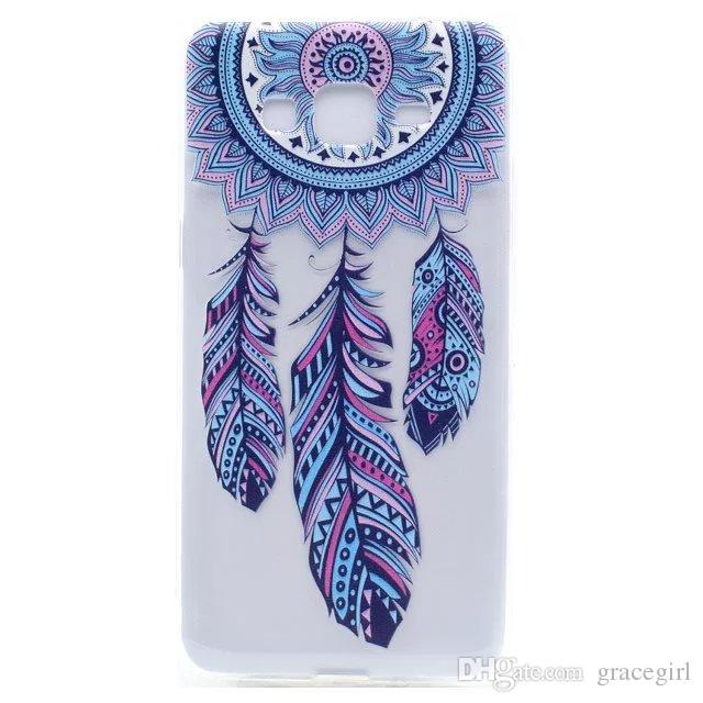 Перо цветок мягкий чехол TPU для Samsung Galaxy S8 Plus 2017 A3 A5 A7 J2 J3 J5 J7 премьер Huawei P8 Lite P10 Y6 II бабочка одуванчик крышка