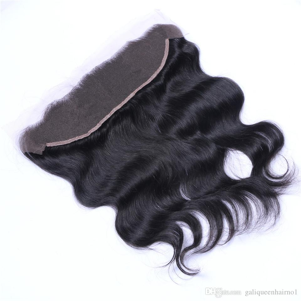 Brazilian الجسم موجة 13x4 الأذن إلى الأذن قبل الفخذ الدانتيل الجبهة إغلاق مع شعر الطفل ريمي الشعر البشري شحن جزء أعلى الجزء العلوي