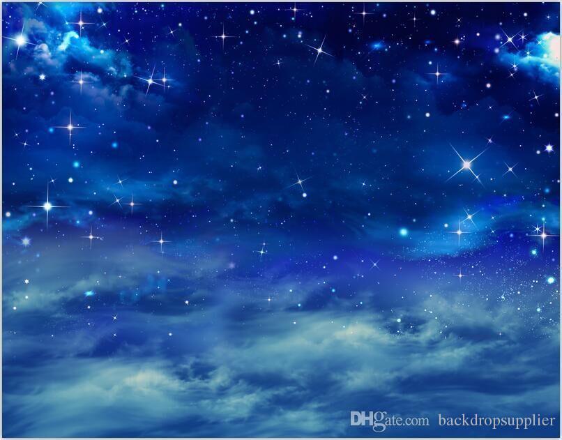 Acquista 7x5ft Cielo Stellato Blu Notte Nuvole Spazio Studio