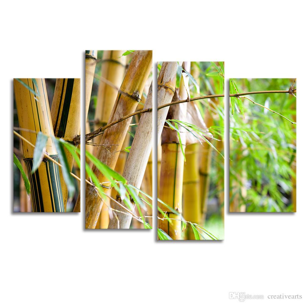 2018 Bamboo Photo Forestry Canvas Painting Modern Hd Photography ...