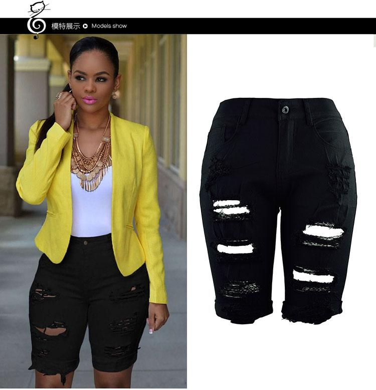 2017 Fashion New Pattern Manual Wear Trend Personality Jeans In Pants Woman Summer