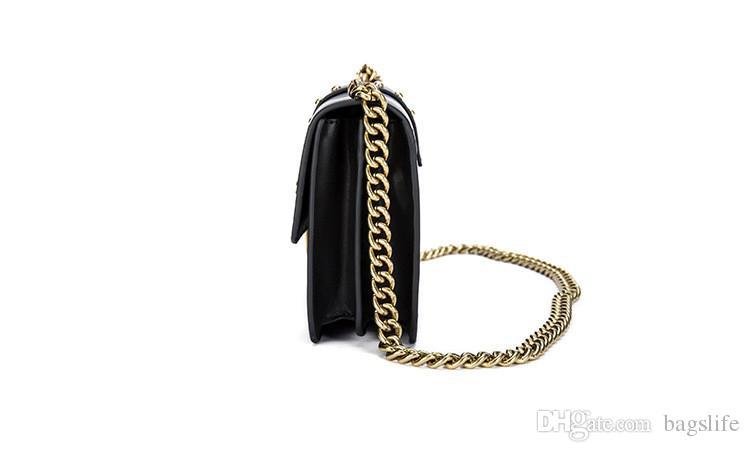 2017 Women Metal Swallow Flap Bag Designer Leather Fashion Rivet Messenger Bags Bolsa Feminina Ladies Single Shoulder bag