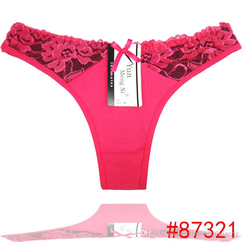 4a7d89e7727 2019 Pack Of 6 Low Rise Laced Cotton Thong Cheeky Lady Panties Sexy Women  Underwear Spandex Lady G String Women T Back Hot Lingerie From ...