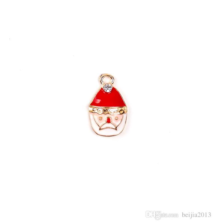Kostenloser Versand! Neuer heißer Verkauf Weihnachtsgroßverkauf verlost XSilver-tone Mischung einzigartige Emaille-Weihnachtscharme-Anhänger