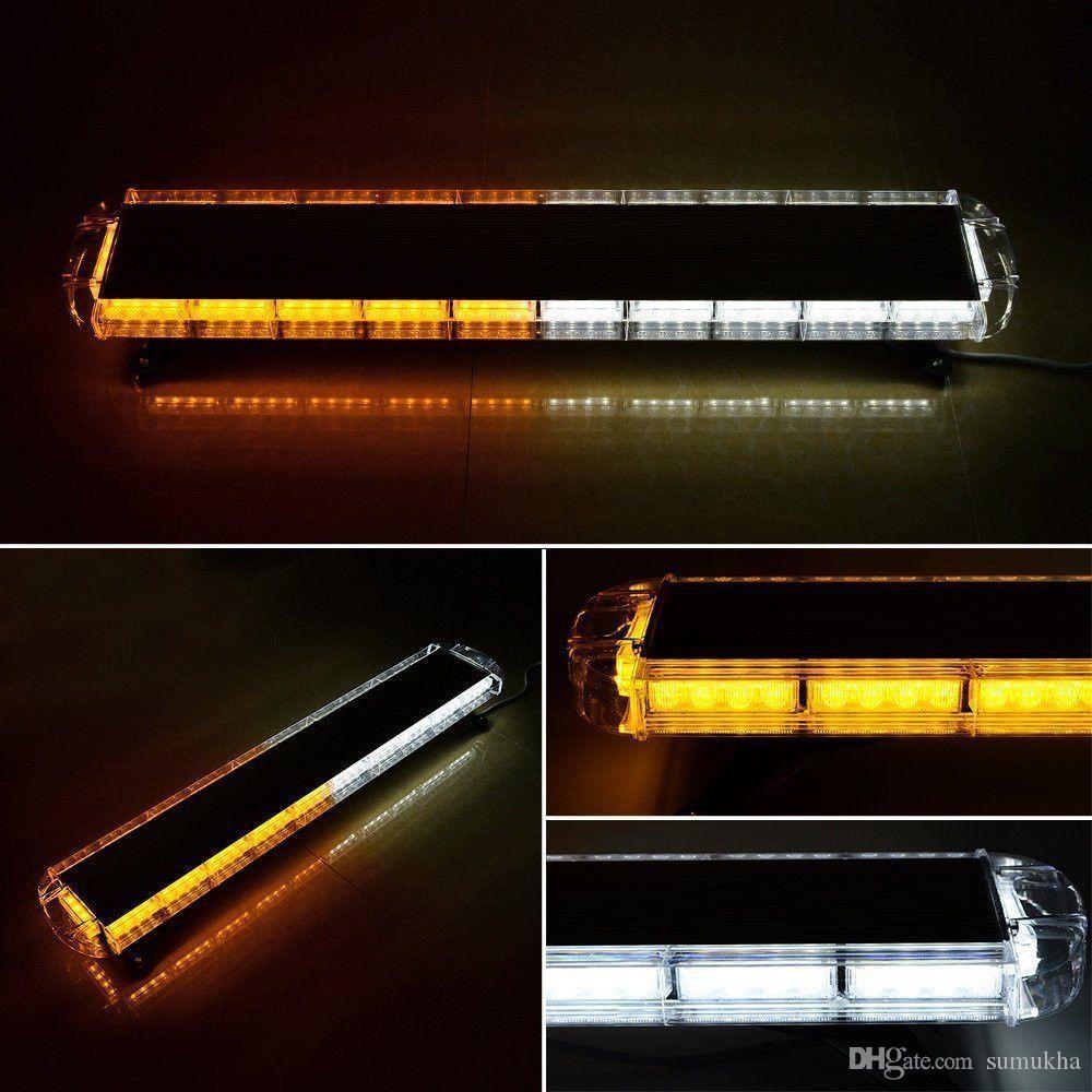 Amberwhite 47 88 led light bar emergency beacon warn tow truck amber white 47 88 led light bar emergencyg mozeypictures Images