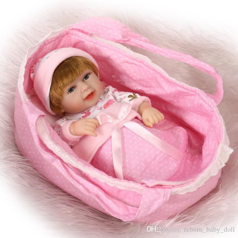 "Realistic soft Anatomically Correct 10"" reborn Baby Boy doll and girl doll"