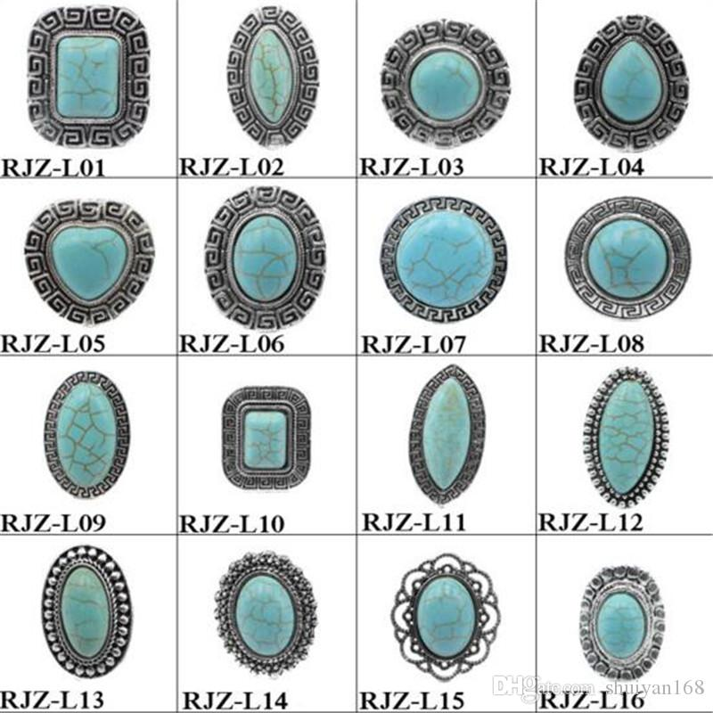 37 Style Turquoise Rings High Quality Vintage Turquoise Natural