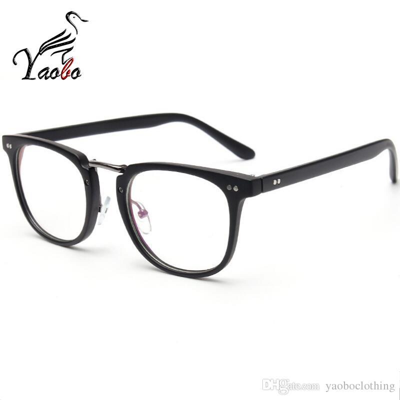 7639467a079 2019 Yaobo Brand Optical Glasses Frame Men Half Rim Clear Lens Eye Glasses  Frames For Women Eyeglasses Female Spectacle Eyewear From Yaoboclothing